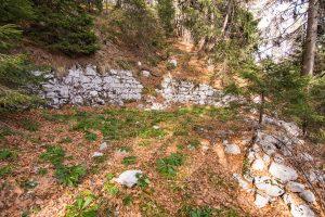 Druga uravnava za potrebe gradnje pri utrdbi št. 2. Foto: Grega Žorž